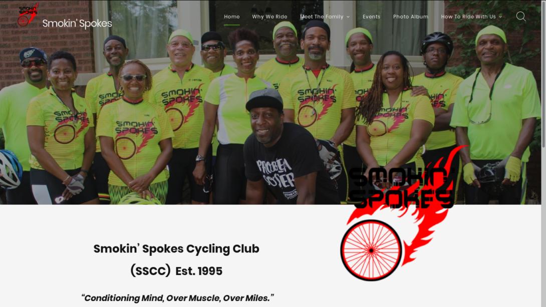 Picture of Smokin Spokes web site